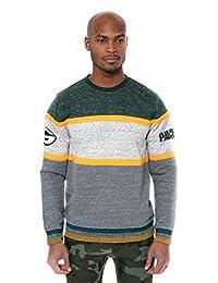 ICER Brands NFL - Sudadera de Forro Polar para Hombre, Manga Larga, diseño de Rayas, Color del Equipo, Verde, Mediano