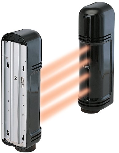 (Cop Security 15-947 Outdoor Quad-Beam Photoelectric Sensor for up to 450ft (Black))