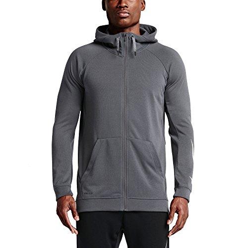 Nike Dri-FIT Full-Zip Men's Training Hoodie (Large, Grey)