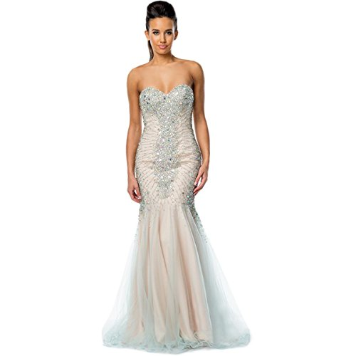 0d42e78184b Glamour by Terani Couture Womens Strapless Prom Evening Dress best ...
