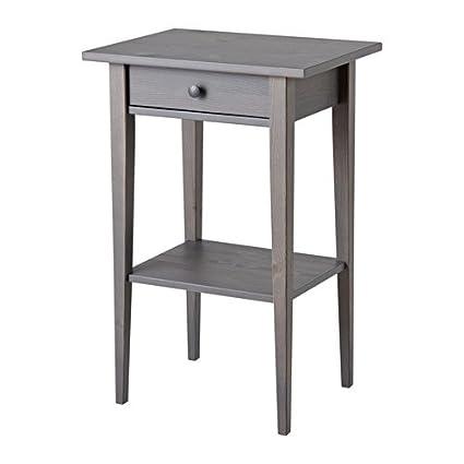 new product f1b63 5c9aa Amazon.com: Ikea Nightstand, gray dark gray stained 18 1 ...