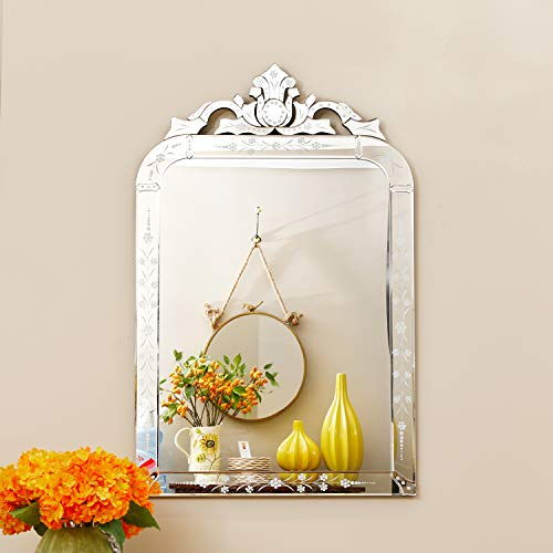 KOHROS Wall Mounted Squared Mirror, Venetian Mirror Decor for The Living Room, - For Mirrors Price Bathroom Low