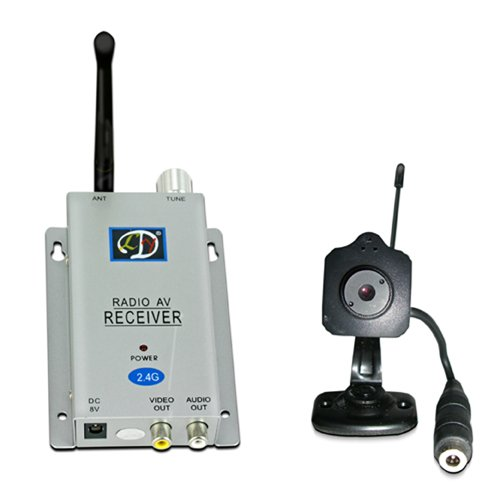 LYD W203E1 Wireless Camera Kit with Upto 4 Channels and 100m Transmission Distance (Silver)