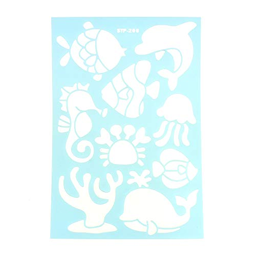 Homeford Tropical Sea Life Multi-Media Stencil, 11-Inch