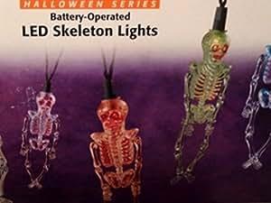 Sylvania Halloween Light Set 6 LED Battery Operated Color Changing Skeleton Lights