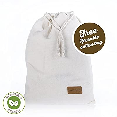 Changing Pad Liners - 3 Pack 100% Organic Un-Dyed Cotton - 28 Inch x 20 Inch - Waterproof Lining - Free Gift Bag