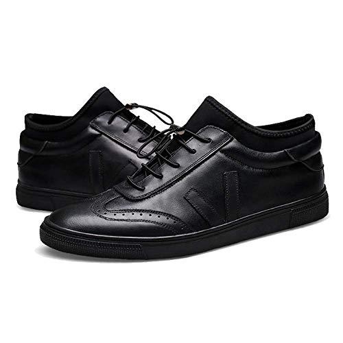 Traspirante NIUMT Urti Assorbimento Moda Stringate Britannico Stile Black Resistente degli all'Usura Casual Scarpe SRHw4Saq