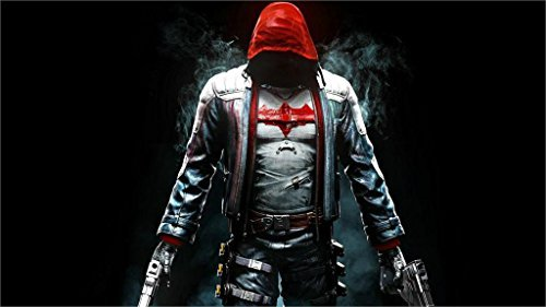 Twenty-three Jason Todd Red Hood Batman Arkham Knight- Movies 4 Sizes Silk Fabric Canvas Poster Print 24X36Inch