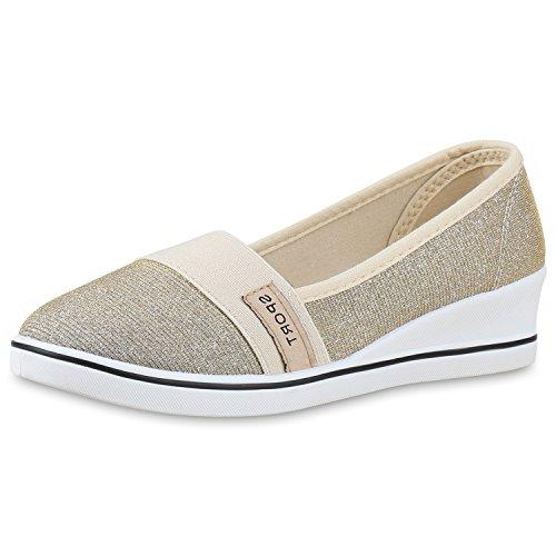 napoli-fashion Sportliche Damen Pumps Keilabsatz Glitzer Wedges Schuhe  Jennika: Amazon.de: Schuhe & Handtaschen