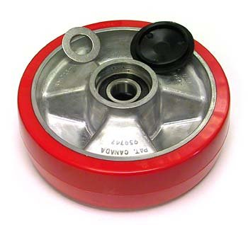 Uline H-1043 Heavy Duty Steer Wheel Assembly with Bearings