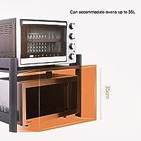 AYHa Estante de microondas sobre encimera, rejilla de horno negra ...