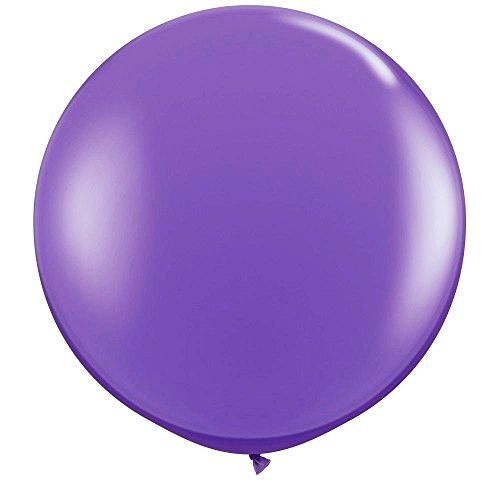 NYKKOLA 36 Inch Giant Latex Balloon (Premium Helium Quality)6 Pack Big Purple Balloons