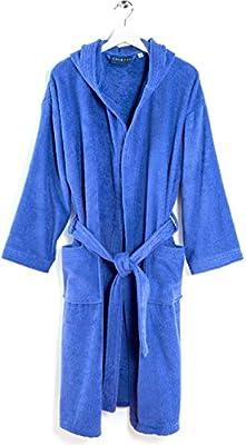 Caleffi albornoz rizo hombre mujer algodón Tg. Lisa XXL azul – Minorca: Amazon.es: Hogar
