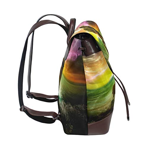 Kvinnor PU-läder söt baby elefant ryggsäck handväska resa skola axelväska ledig dagväska