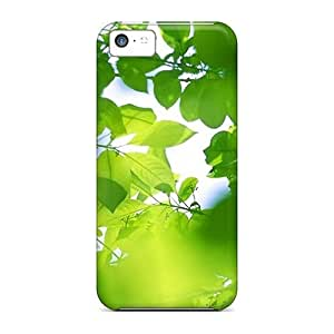 New Mialisabblake Super Strong Green Leaves Shadow Hd Tpu Case Cover For Iphone 5c