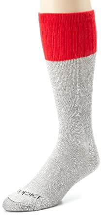 Dickies Men's 5 Pack Cotton Boot Crew Socks, Black Marl Red Top, 10-13 Sock/6-12 Shoe