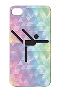 Black TPU Shock Absorption Sports Ballet Miscellaneous Dancer Gymnastics Dancing For Iphone 4/4s Cover Case