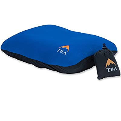 Sierra Ultralight I Camping Pillow With Gentle Soft Peach Brush Pillow Case - Designed For Comfort So You Get A Great Sleep - For Hiking, Travel, Backpacking by Tiny Big Adventure Inc