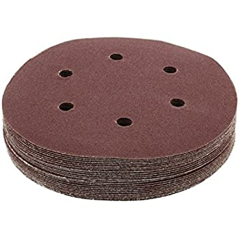 """for Random Orbit Sanders Auto Body Now 6 Hole 6/"""" Inch ABN Aluminum Oxide Hook and Loop Adhesive Sanding Discs 25-Pack 60 Grit"""