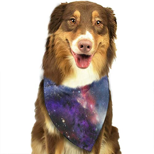 HJudge Dog Bandana Galaxy Nebula Cloud Colorful Dog Scarf Custom Personalized Pet Bandana Triangle ()
