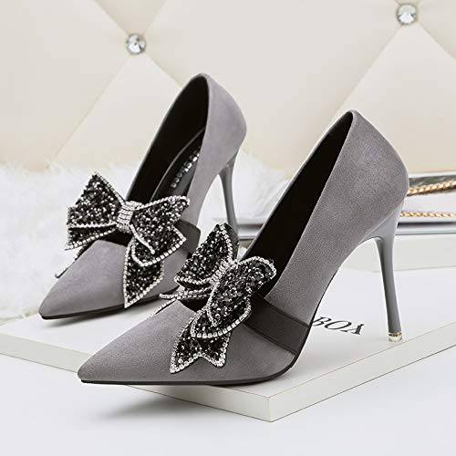 FLYRCX Frühling Frühling Frühling und Herbst zeigte Pailletten Schuhe Diamant fein mit sexy High Heels Party Schuhe beugen 63e56f
