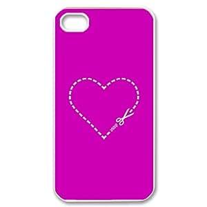 HOPPYS Customized Print Love Heart Pattern Back Case for iPhone 4/4S
