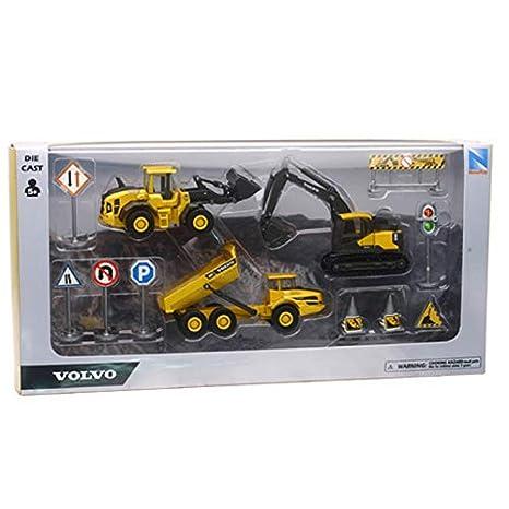 New Ray 9697 Volvo - Juego de moldes para Juguetes, Color Amarillo: Amazon.es: Juguetes y juegos
