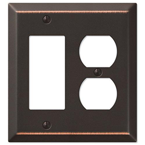 Traditional Design Single Rocker Single Duplex Combination Wall Plate, Oil Rubbed Bronze