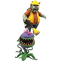 Diamond Select Toys Plants vs. Zombies: Garden Warfare: Engineer Zombie with Turret and Chomper with Spike Weed Select Action Figure (2-Pack)