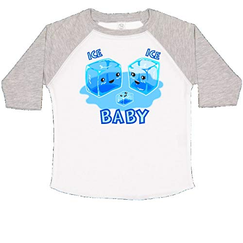 (inktastic - Ice Ice Baby Toddler T-Shirt 4T White and Heather 25f59)