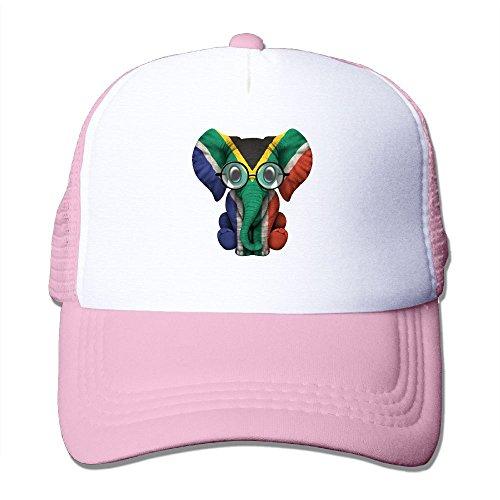WLF Unisex South Africa Flag Elephant Baby Adults Adjustable Mesh Hat Trucker Cap