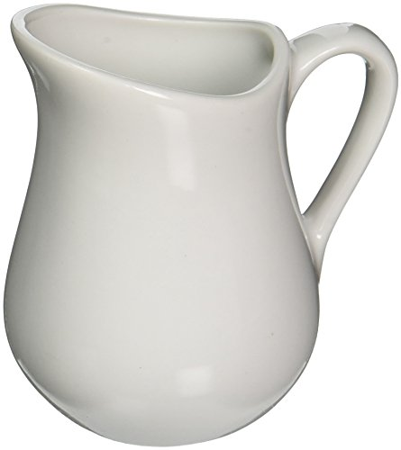 - White Undecorated 4 oz Pitcher