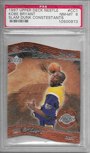 1997 Upper Deck Nestle Kobe Bryant Slam Dunk Contestants Card # CC1 PSA 8 NM-MT