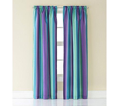 Rainbow Ombre Faux Silk Curtain Panel