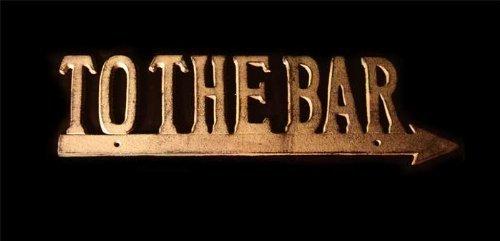 production To The Bar Cast Iron Arrow Sign ()