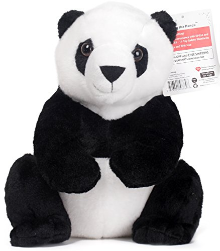 Xiaoxiong the Panda | 13 Inch Panda Bear Stuffed Animal | By Tiger Tale Toys (Tiger Watch Warrior)