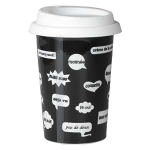 Termo de café de cerámica diseño de comic 225 ml