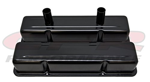 CFR HZ-8215-PBK Aluminum Stamped Tall Valve Covers Chevy Small Block Circle Track 283-400 - Anodized - Circle Valve Covers Track