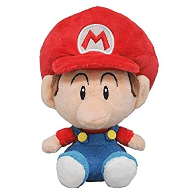 "Little Buddy 1247 Super Mario All Star Collection Baby Mario Plush, 6"": Toys & Games"