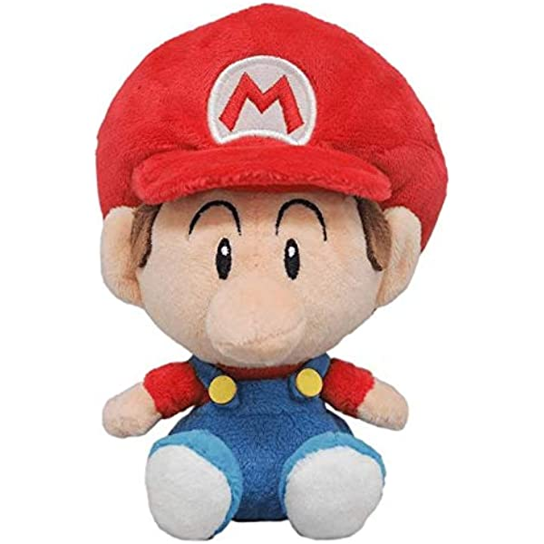 """Little Buddy Super Star Collection Fire Mario 9.5/"""" Stuffed Plush Authentic USA"""