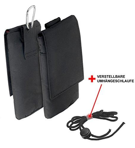 yayago Verticaltasche Hülle für Apple iPhone 7 Schutzhülle Tasche mit Klettverschluß Schwarz