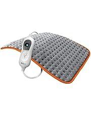 Boston Tech WE115 warmtekussen, 30 x 60 cm, kleur: grijs, elektrische deken voor snel opwarmen, drie temperatuurniveaus, automatische uitschakeling.