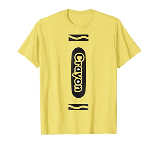 Mens Halloween Group Costume T Shirt Yellow Crayon Funny Couples 2XL (Diy Funny Halloween Costumes 2017)