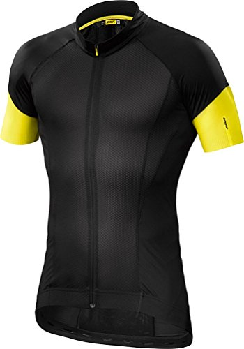 Mavic Cosmic Pro Jersey – Short-Sleeve – Men's Black/Yellow Mavic, L