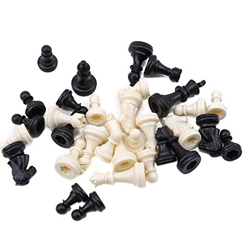 (Guoshang Chess Pieces Plastic Checker Spare Chess Pieces Board Game Accessories Educational Game for Adults and Kids Pack of 32)