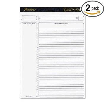 amazon com ampad gold fibre 8 5 x 11 75 inch 50 sheet project
