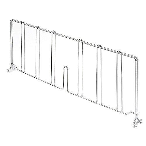 Nexel Wire Shelf Divider, Chrome Finish, 14