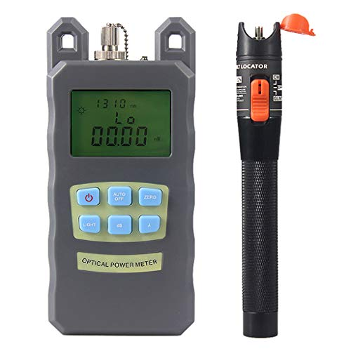 SM SunniMix DXP-20B -70dBm~+10dBm 850~1625nm Optical Power Meter Tester FC SC Handheld Optical Power Meter + with 10mW Visual Fault Locator Pen by SM SunniMix (Image #3)