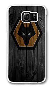 Samsung Galaxy S6 Case, Hard Crystal Clear Transparent Plastic Bumper Case for Samsung Galaxy S6 with Back Photo Wood Wolves