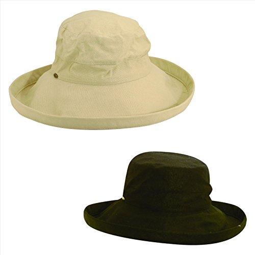 Scala Women's Cotton 4 Inch Brim UPF 50+ Hat (Pack (Scala Classic Hat)